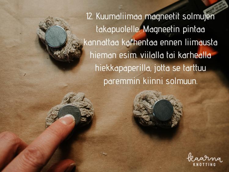 Kaarna Knotting - DIY makrameemagneetit